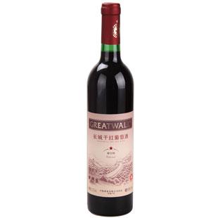 12.5° 长城干红葡萄酒 一星解百纳 750ml