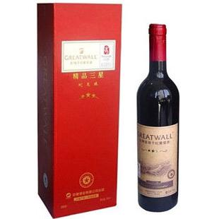 12° 长城精品三星葡萄酒  750ML